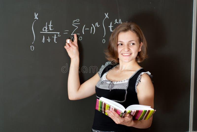 Junger Lehrer Stockfoto