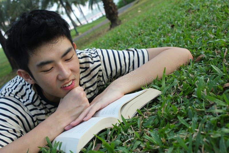 Junger Leser stockbilder