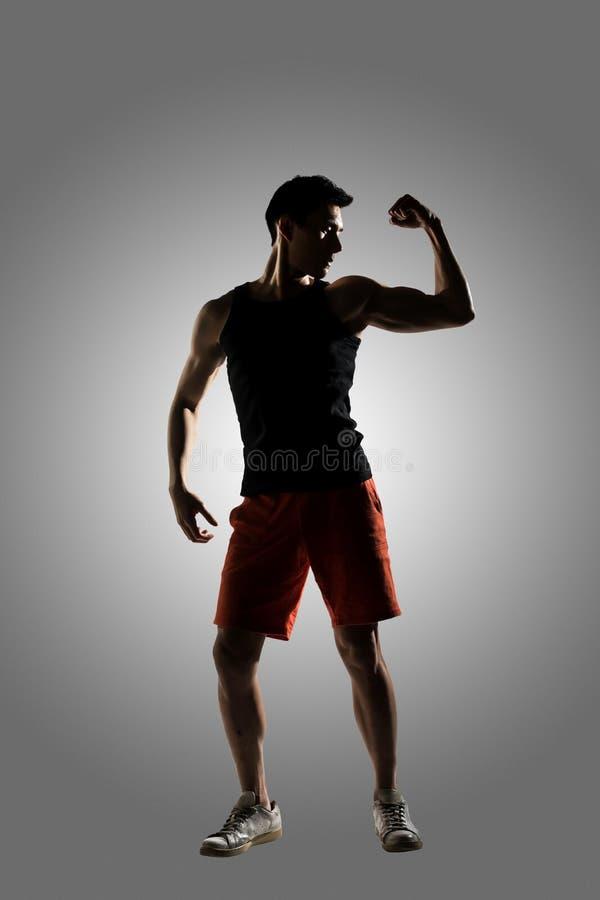 Junger männlicher Athlet stockbild