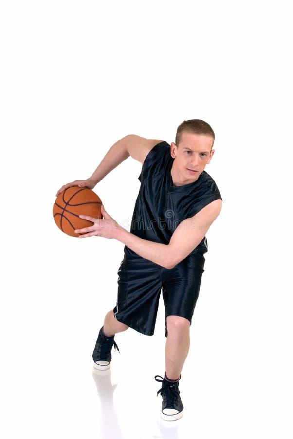 Junger männlicher Basketball-Spieler lizenzfreies stockfoto