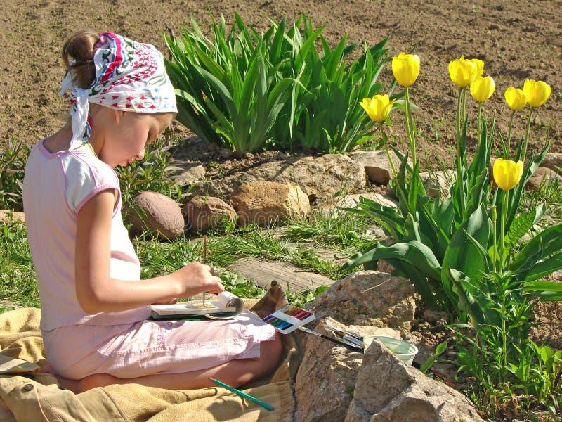 Junger Maler stockfotografie