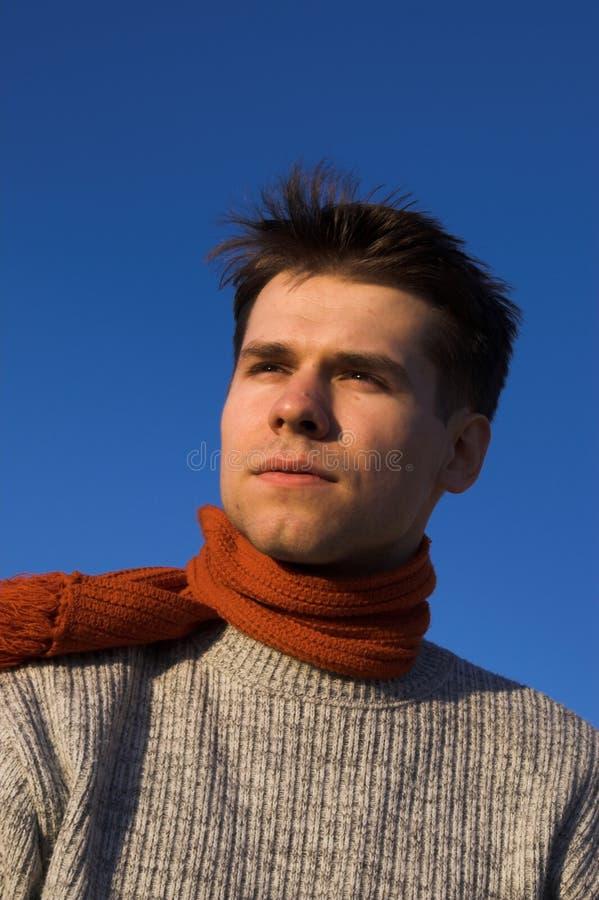 Junger Mann stockbild