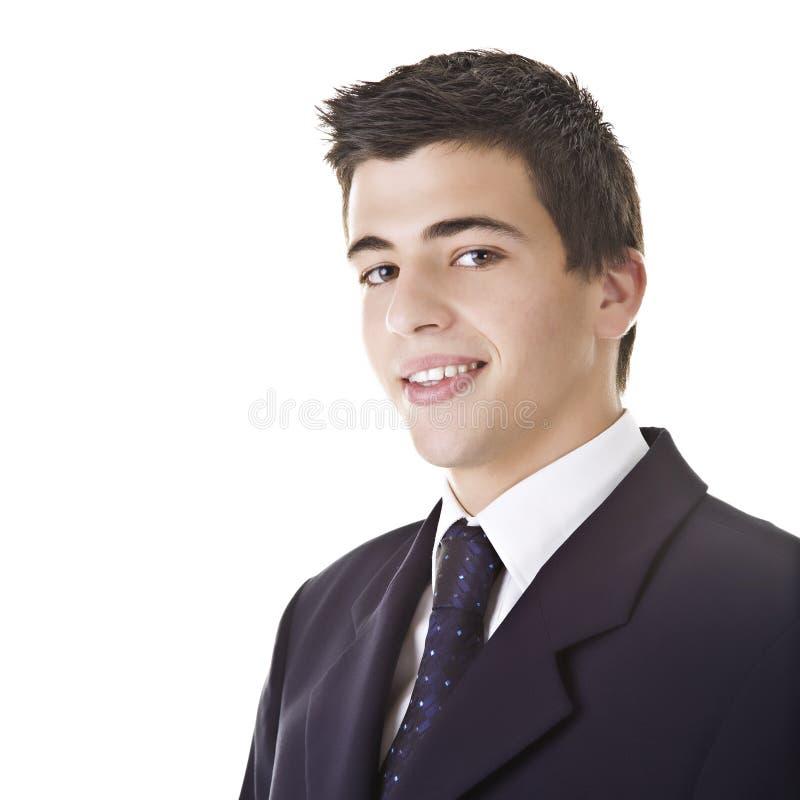 Junger Mann, der einen Anzug trägt stockfotos