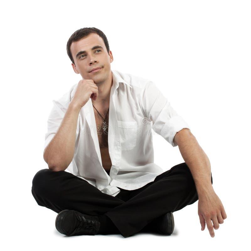 Download Junger Mann, Der Oben Schaut Stockfoto - Bild von denken, leute: 26351448