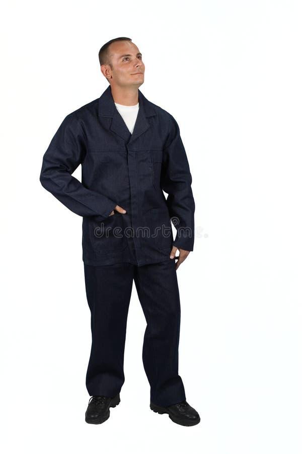 Junger Mann in der Schutzkleidung stockbild