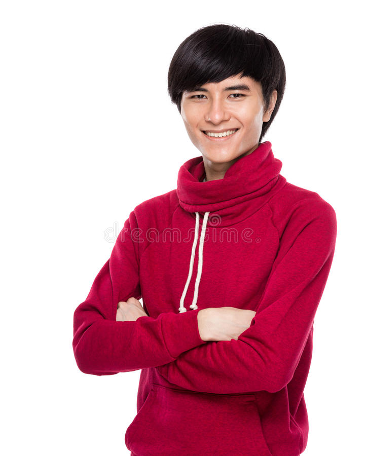 Junger Mann des Lächelns stockbild