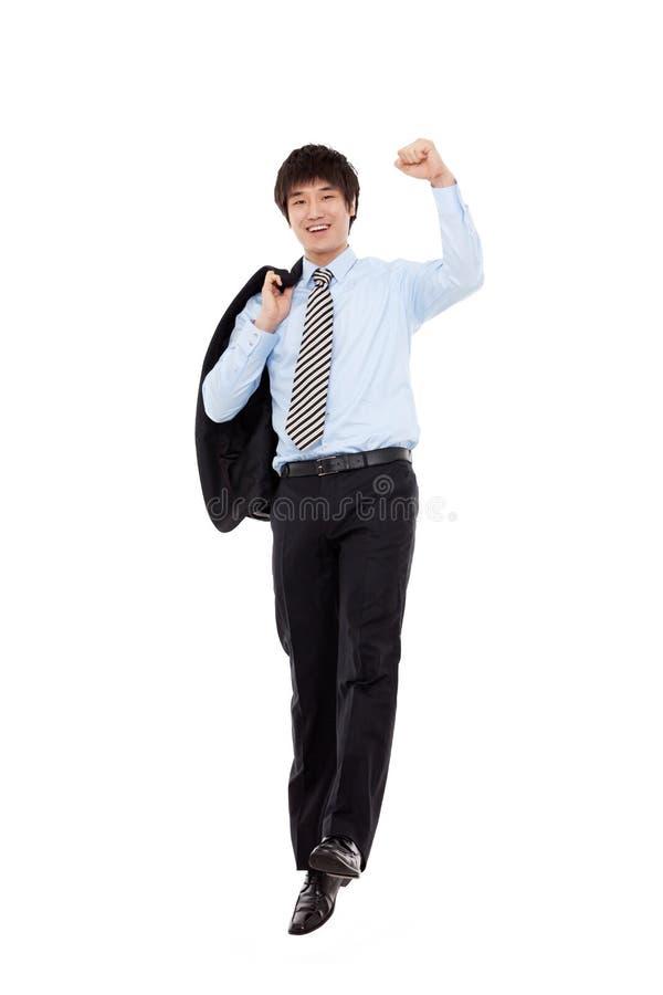 Junger Mann des vibrierenden Geschäfts stockbild