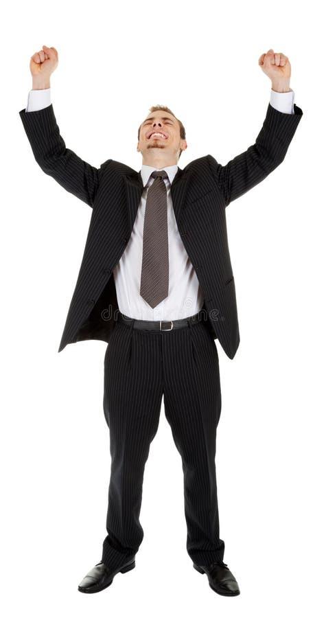Junger Mann in einem schwarzen Anzug stockfoto