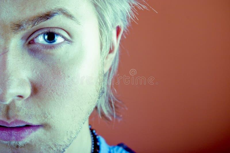 Junger Mann-Gesicht lizenzfreie stockfotos