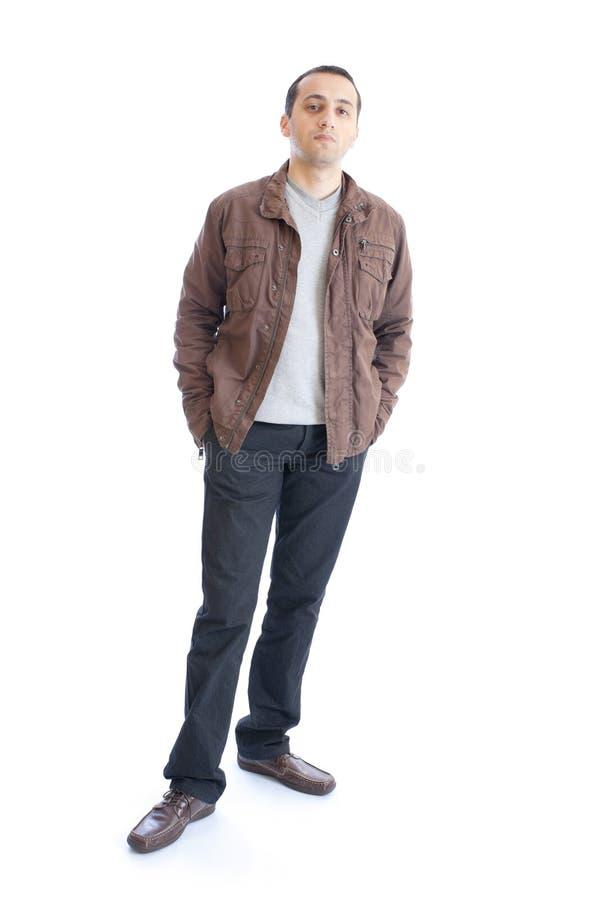 Junger Mann getrennt auf weißem Hintergrund lizenzfreies stockbild