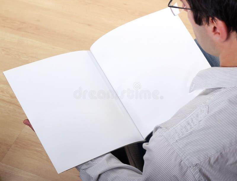 Leere Broschüre stockbilder