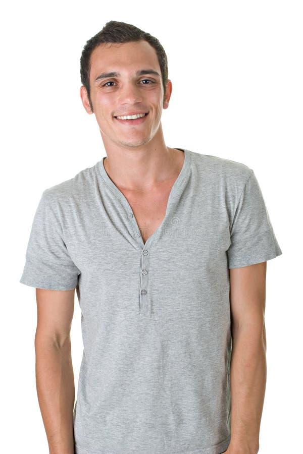 Junger Mann-Lächeln lizenzfreie stockbilder
