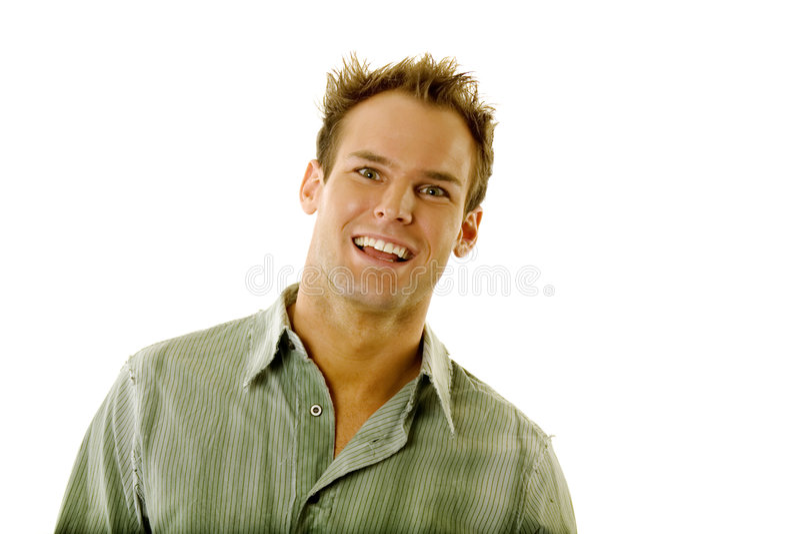 Junger Mann mit Gesichtsausdruck stockbild