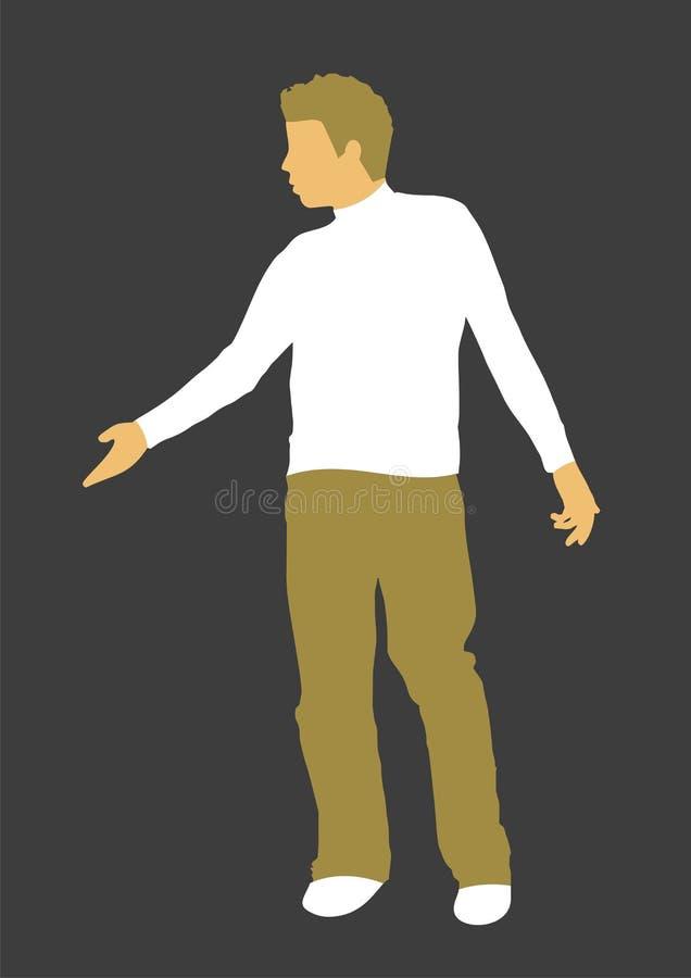 Junger Mann-Retro- Abbildung stock abbildung