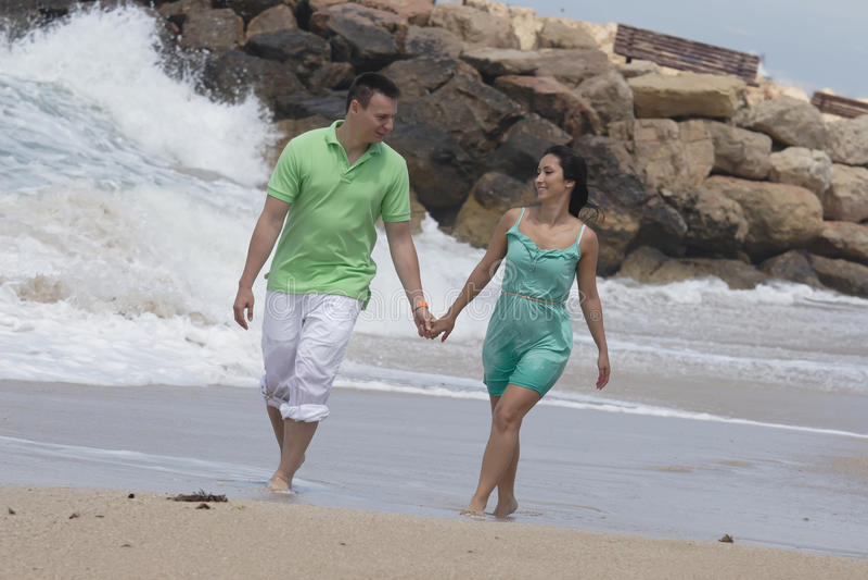 Junger Mann und Frau stockfoto