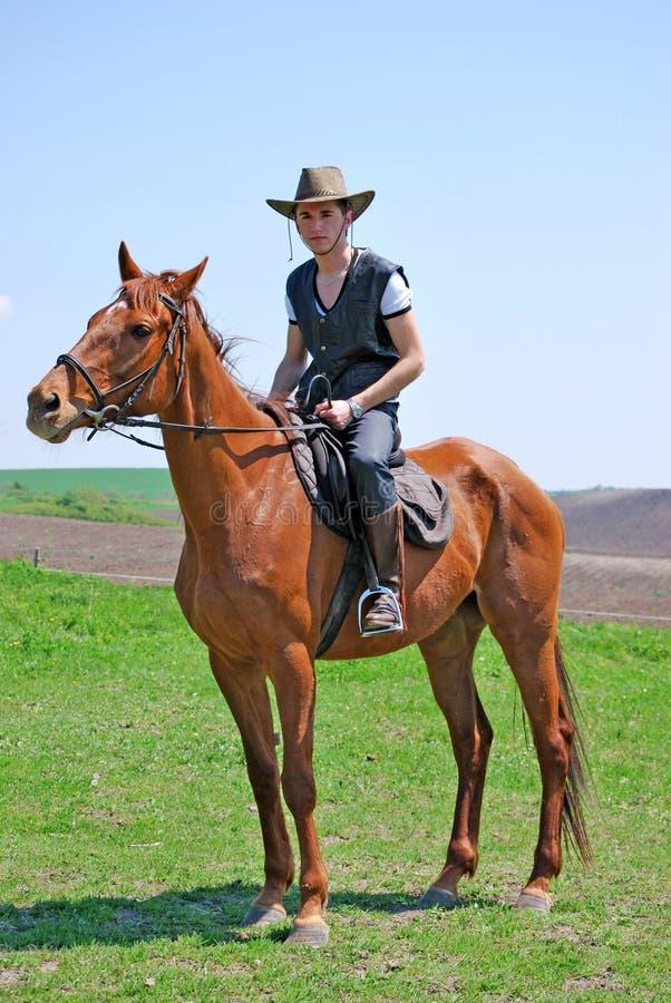 Junger Mann und Pferd lizenzfreie stockfotografie