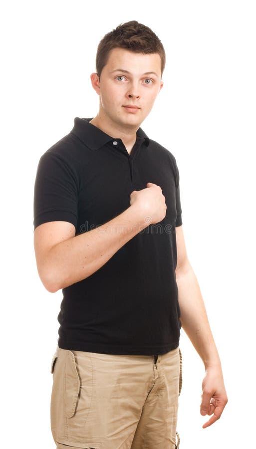 Junger Mann - wer ich? lizenzfreies stockfoto