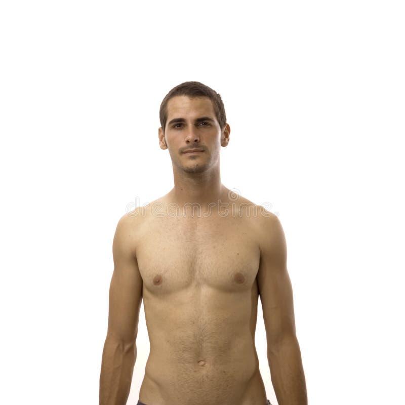 Junger Mit Nacktem Oberkörper Mann Stockfoto - Bild von biceps ...