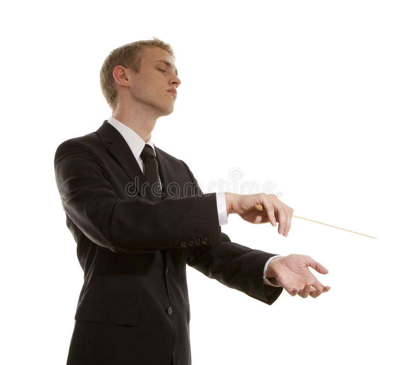 Junger musikalischer Leiter lizenzfreies stockfoto