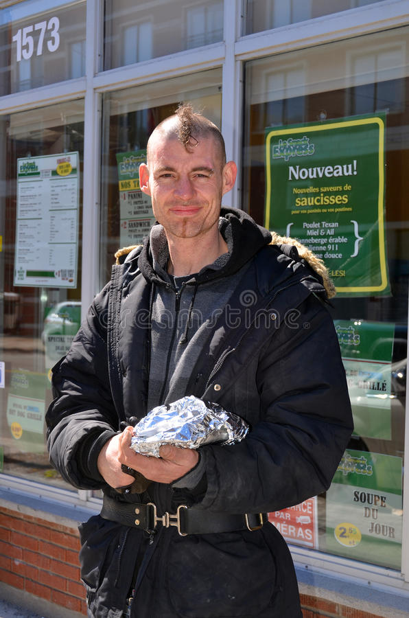 Junger Obdachloser stockfoto