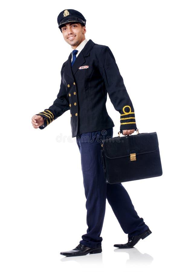 Junger Pilot stockbild