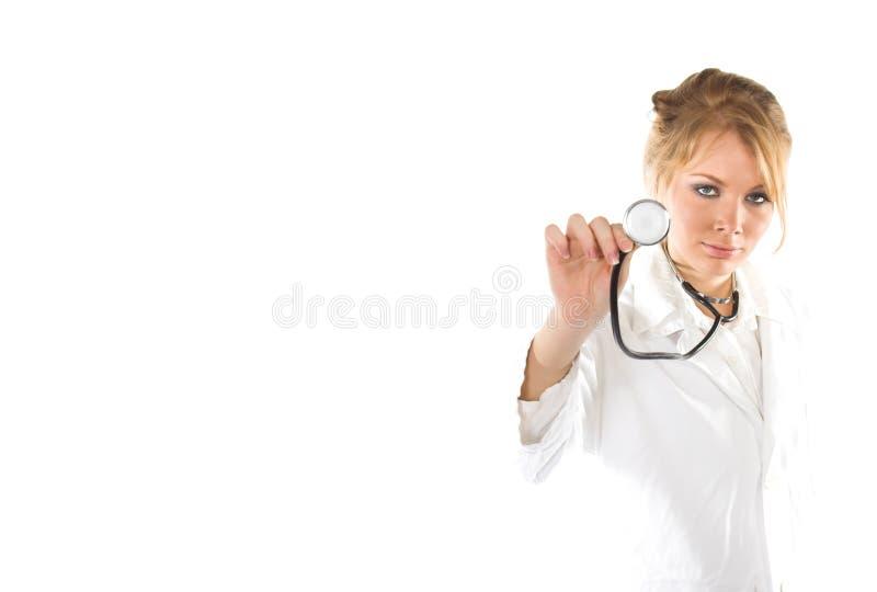 Junger schöner weiblicher Doktor lizenzfreie stockbilder