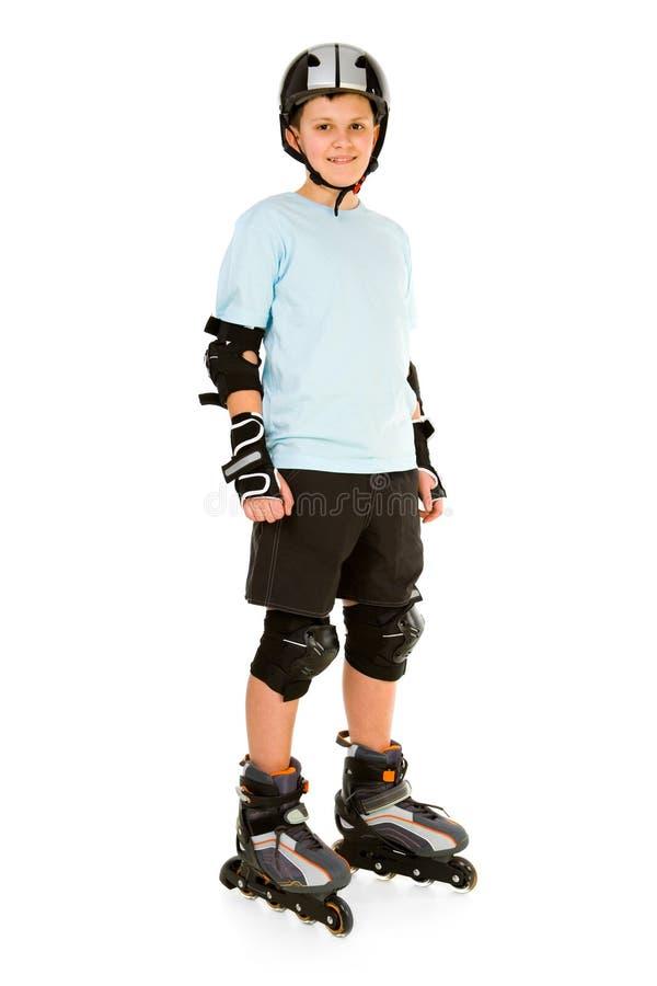 Junger Schlittschuhläufer lizenzfreie stockfotos