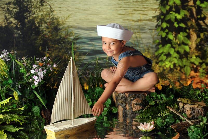 Junger Seemann lizenzfreie stockfotografie