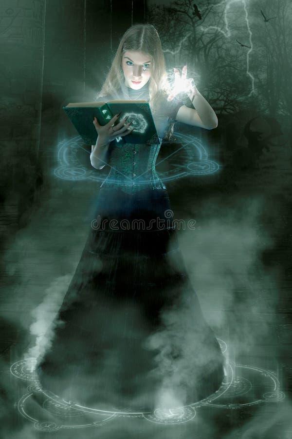 Junger Sorceress lizenzfreie stockbilder