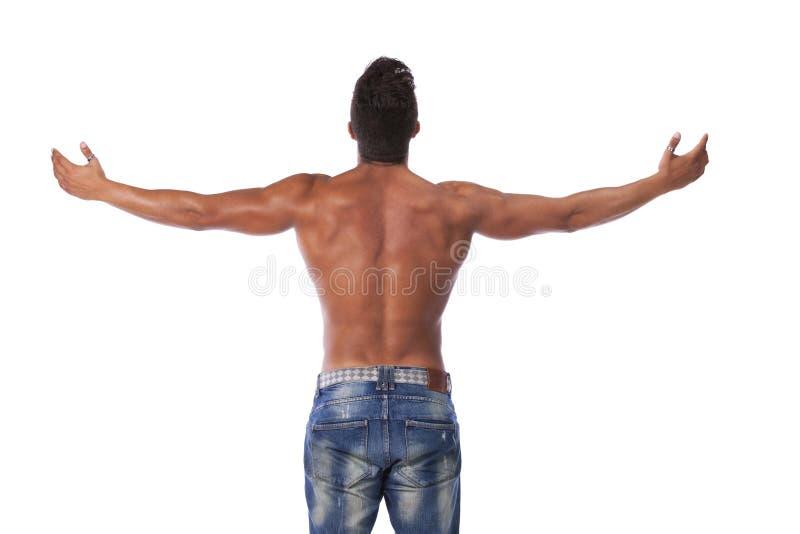 Junger starker Mann lizenzfreie stockbilder