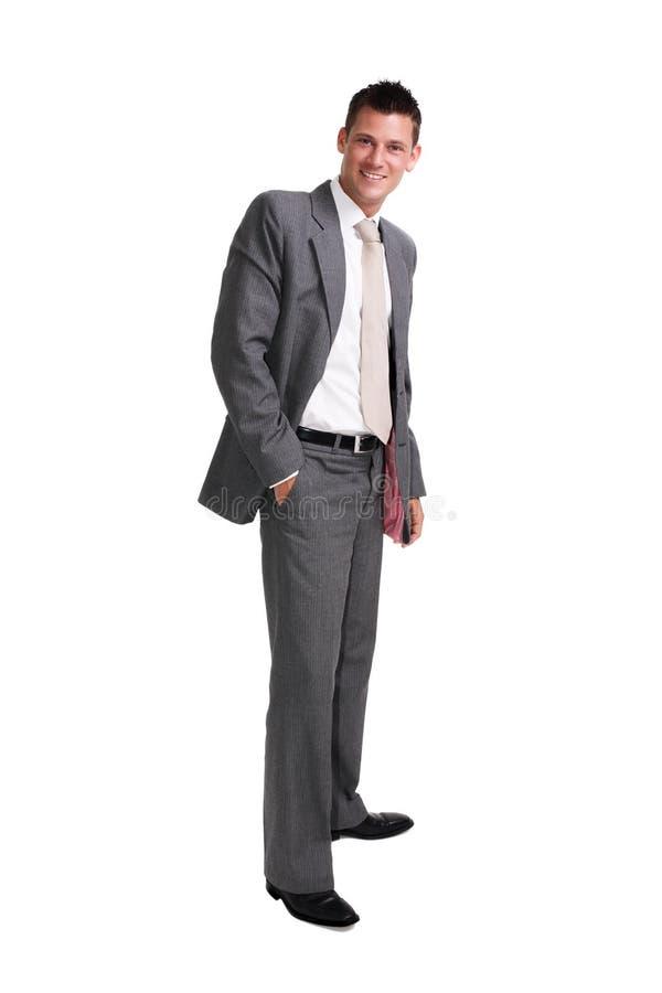 Junger stattlicher Geschäftsmann lizenzfreies stockfoto