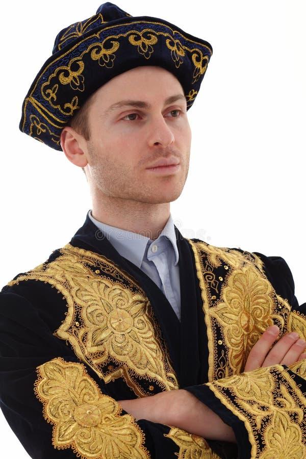 Download Junger Stattlicher Mann Im Typischen Kazakkleid Stockfoto - Bild von hintergrund, blau: 26353796