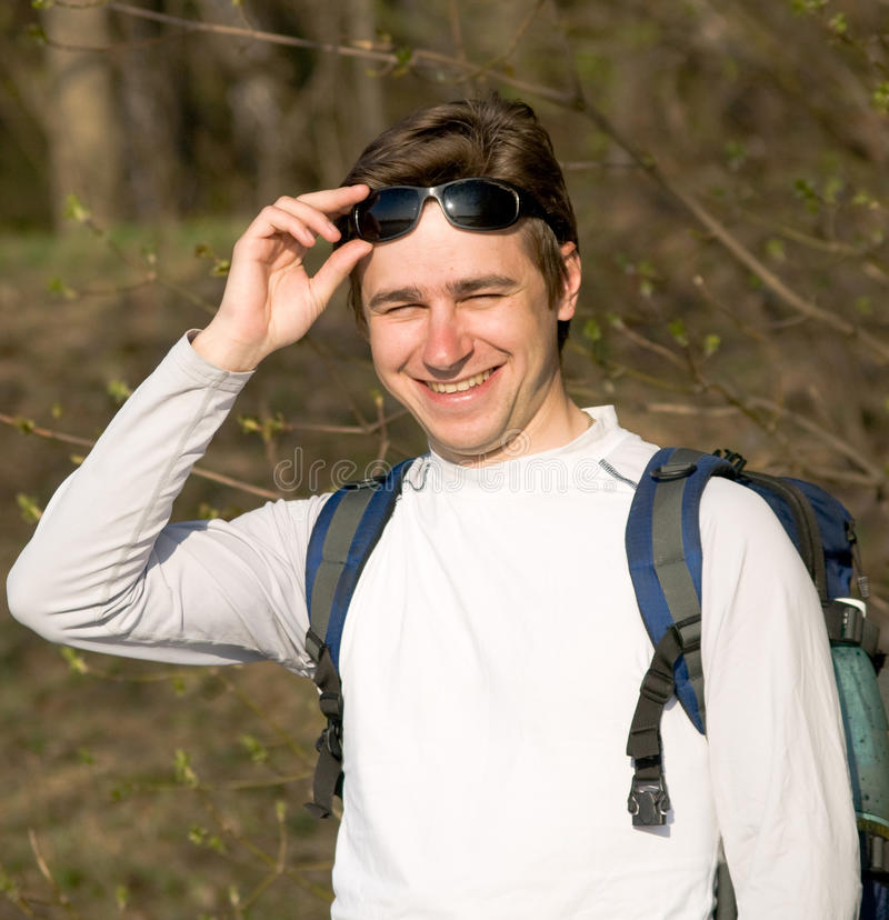 Junger Tourist lizenzfreie stockfotos