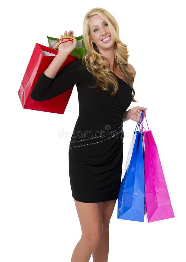 Junger weiblicher Käufer stockfoto