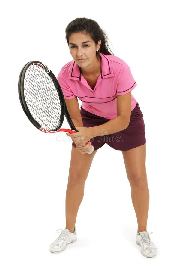 Junger weiblicher Tennisspieler stockbilder