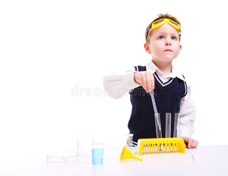 Junger Wissenschaftler stockfotos
