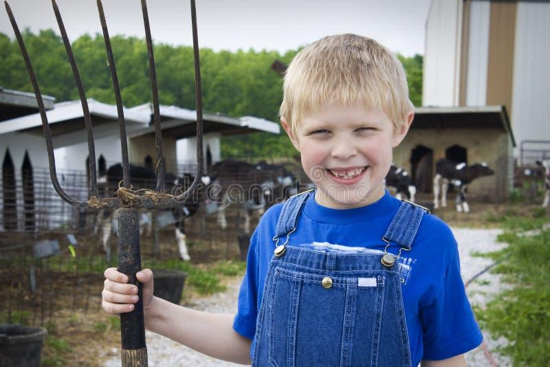 Junger zukünftiger Landwirt stockbilder