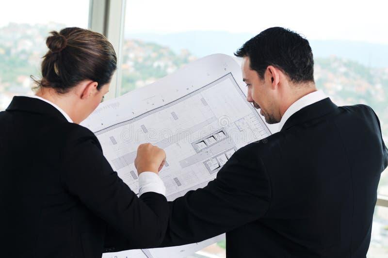 Junges Architektenteam stockbilder