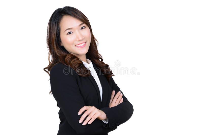 Junges asiatisches Geschäftsfrauporträt lizenzfreies stockfoto