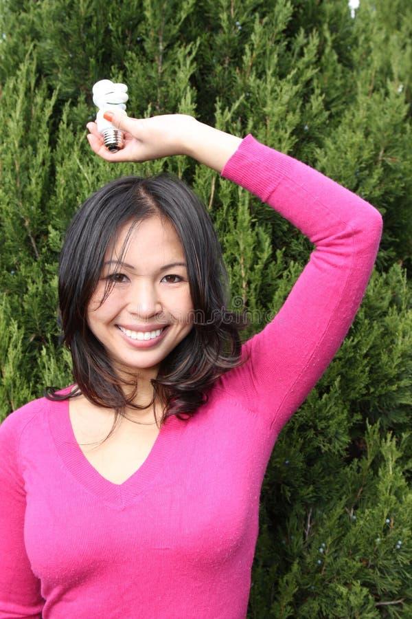 Junges asiatisches Mädchen stockfoto