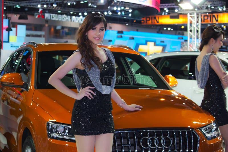 Junges Baumuster an Audi-Pavillon lizenzfreies stockbild