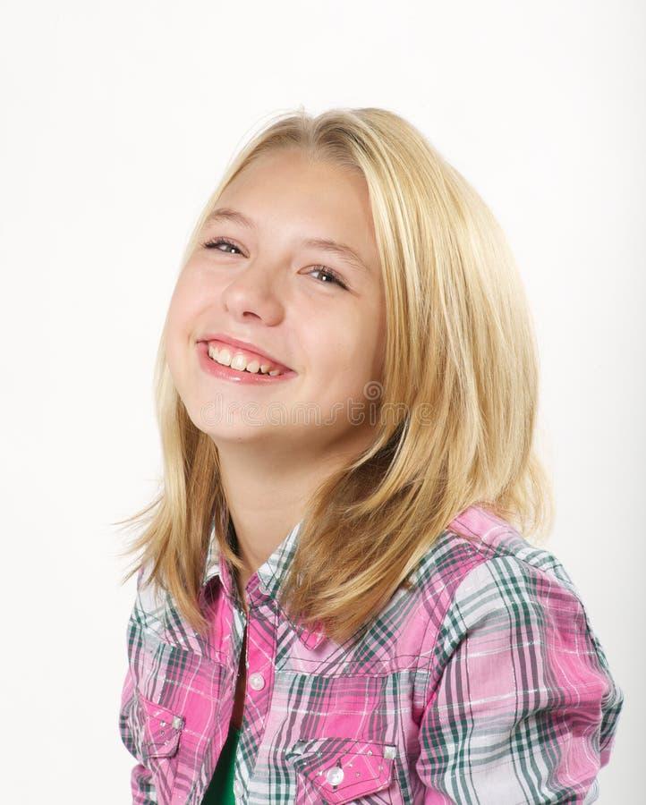Junges blondes Mädchen lizenzfreie stockfotos