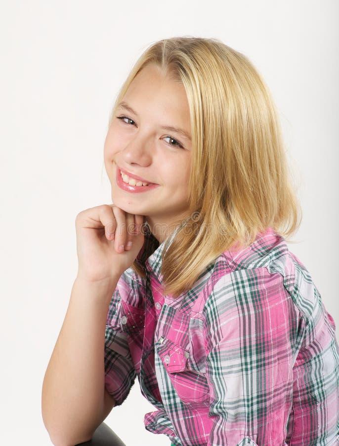 Junges blondes Mädchen stockfotografie