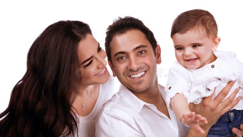 Junges Familienporträt stockbild