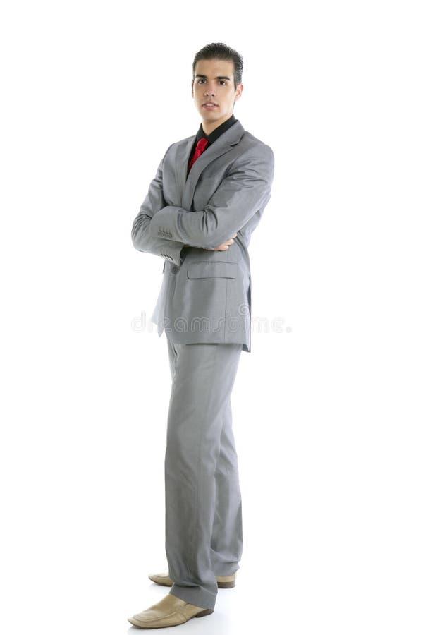 Junges formales Geschäftsmannportrait der vollen Karosserie lizenzfreie stockfotos