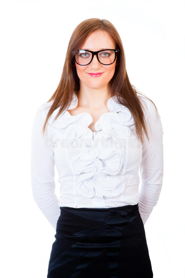Junges Geschäftsfrauportrait stockfoto