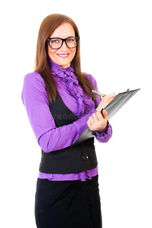Junges Geschäftsfrauportrait stockfotos