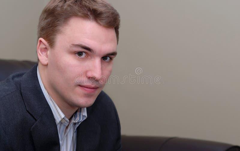 Junges Geschäftsmann-Portrait lizenzfreies stockbild