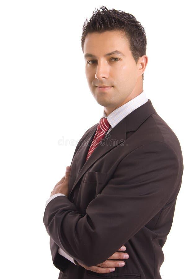Junges Geschäftsmannportrait stockfotos