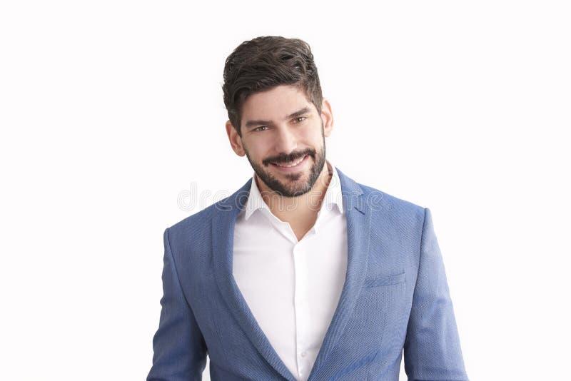 Junges Geschäftsmannstudioporträt stockbild